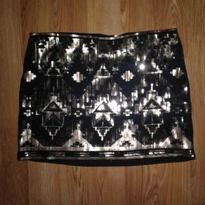 NWOT Express Sequined Mini Skirt Size L